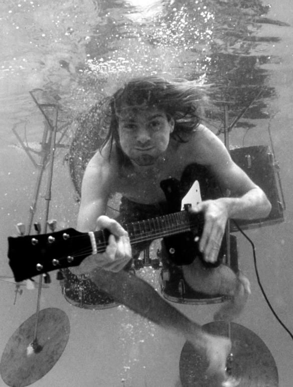Kurt Cobain - not technically a freediving pic, but a cool underwater image nevertheless. :-)