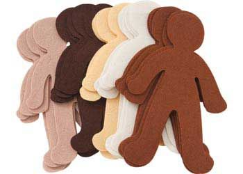 Felt People Multicultural Pack of 30. Wonderful felt people, for children to create themselves or family with.