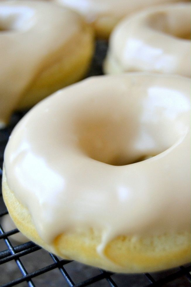 classic buttermilk doughnuts bathed in a sweet maple glaze | the view from great island