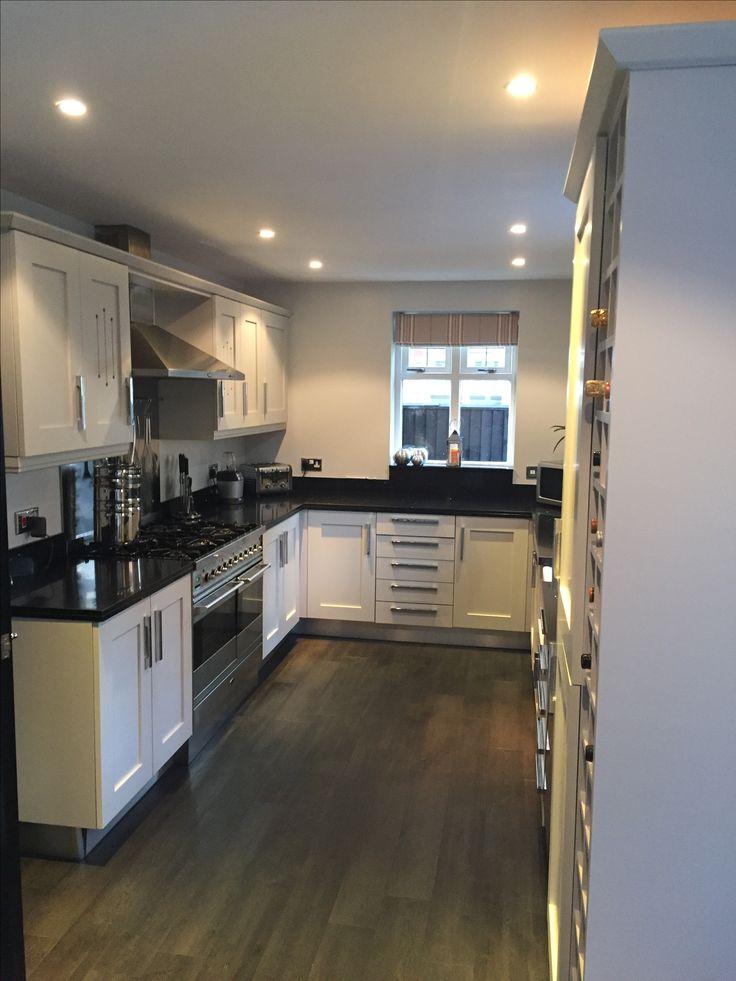 Farrow & Ball Pavilion Grey spray painted kitchen