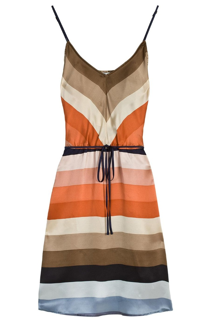 Silk Multi Stripe Cami Dress: Summer Dresses, Multi Stripes, Stripes Cami, Multi Strips Cami, Color, Cami Dresses, Silk Multi, Vintage Silk, Stripes Dresses