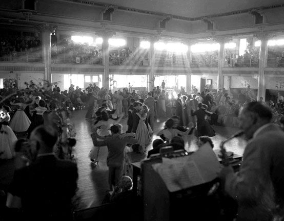 Post war spirit is captured at a ballroom dancing festival in 1952 at Cloudland