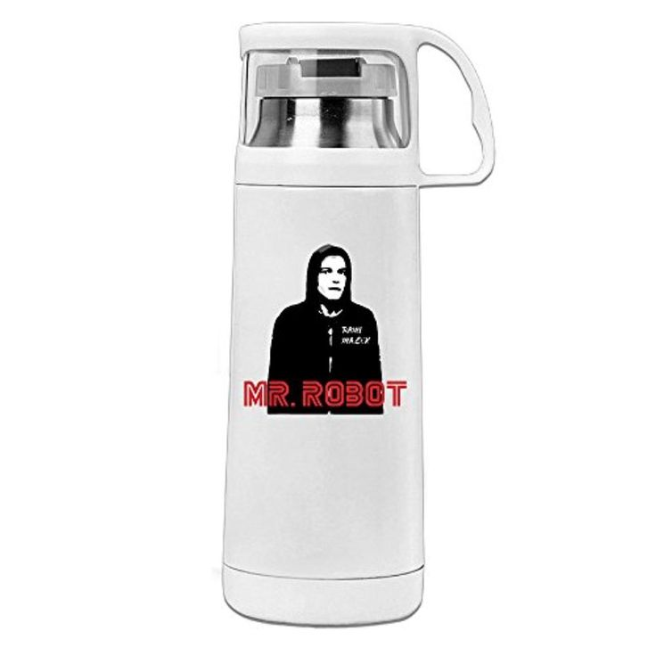 DAMEI Mr. Robot Rami Malek Best Actor Stainless Steel Mug / 350mL Coffee Thermos & Vacuum Flask Water Bottle - Brought to you by Avarsha.com