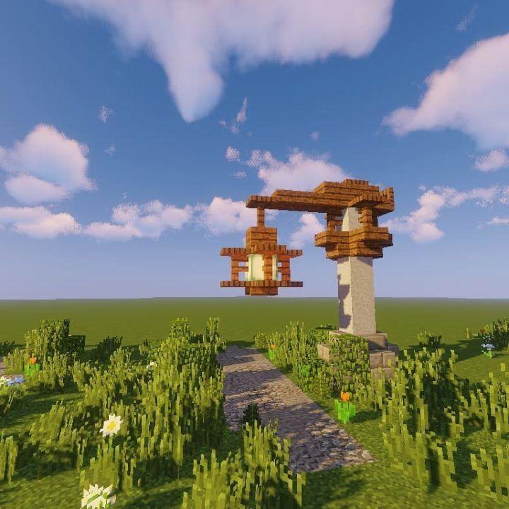 Custom Simple Street Lamp 3 Minecraft Amazing Minecraft Minecraft Blueprints