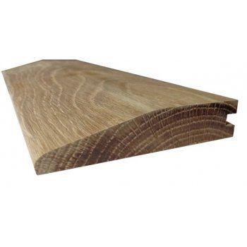 Solid Oak Reducing Ramp Door Threshold 120mm Wide