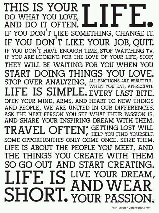Life's simple rules