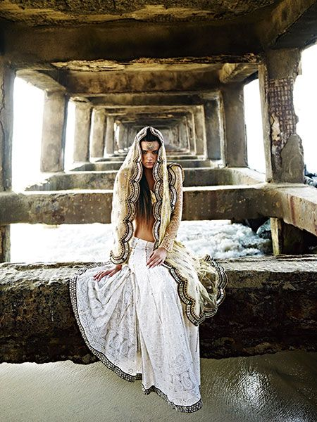 Monisha Jaising White Lengha