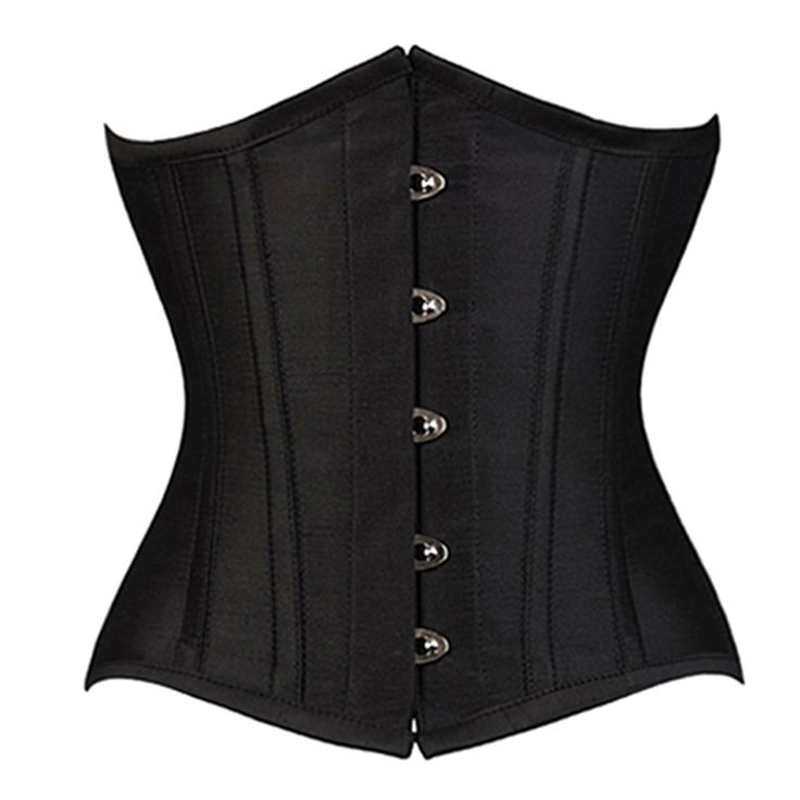 Simple Black Underbust Corset