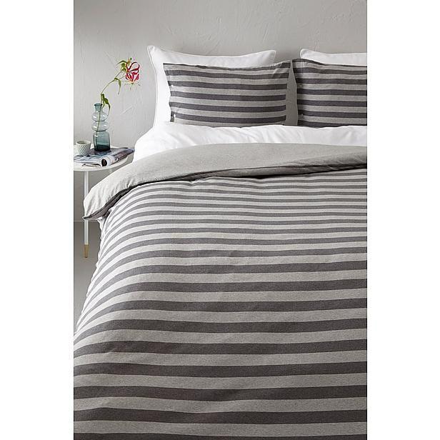 whkmp's OWN jersey stripes all over + pillow case + 3 buttons dekbedovertrek 2 pers.? Bestel nu bij wehkamp.nl