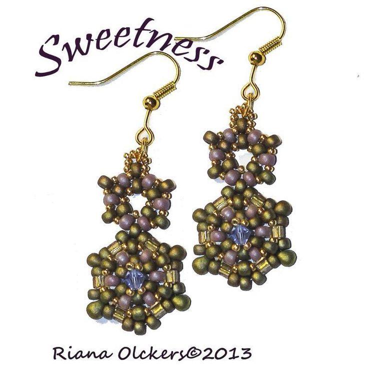 Earring bead weaving pattern - Sweetness