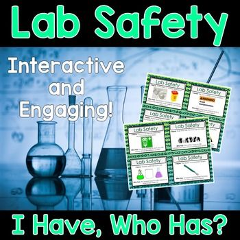 "Science Lab Safety ""I Have, Who Has"" Activity.  This Lab Safety set is sure to spark interest from all of your learners."