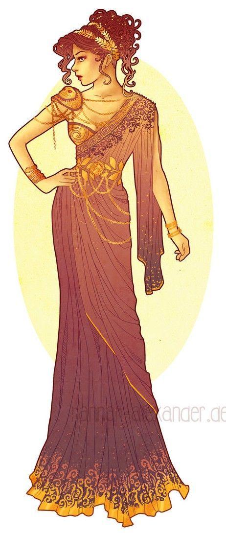 Art Nouveau Costume Designs V - Megara by Hannah Alexander