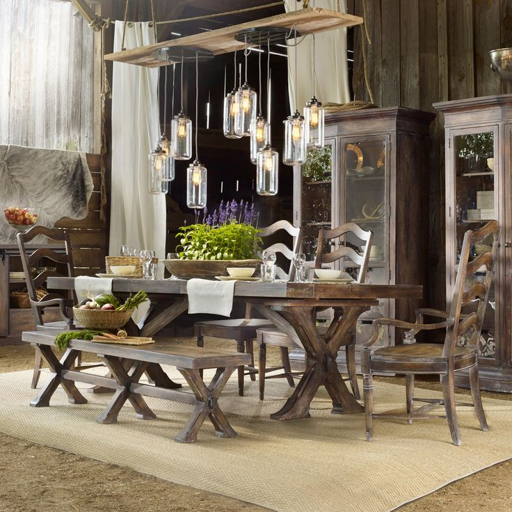 Hooker Furniture Willow Bend 6 Piece Dining Set