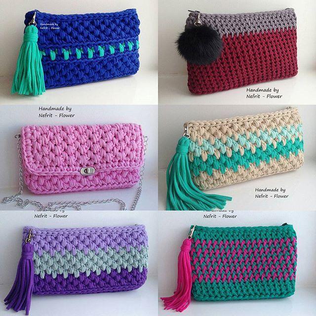 Эксклюзивные вязаные сумочки и клатчи из трикотажной пряжи! Доступны для заказа…