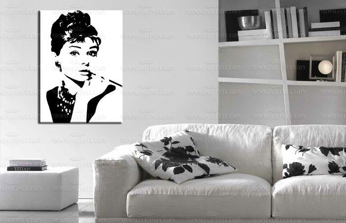 31 best cuadros pop art moodartstudio images on pinterest - Cuadro blanco y negro ...