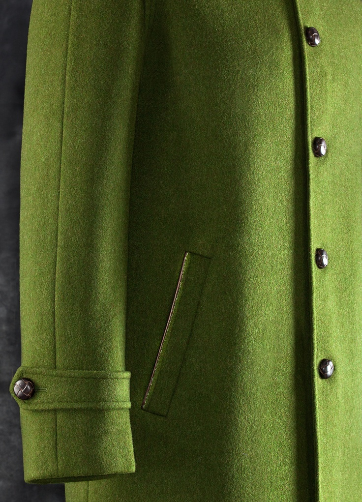 Loden Coat: style UC2 Double in contrasting color, lined