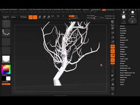 ZBrush Tips & Workflows #2: Designing Eyvind Earle-esque Trees With Nano...