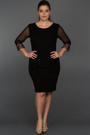 Kisa Siyah Simli Buyuk Beden Elbise Ar36747 Siyah Kisa Elbise Moda Stilleri Elbise