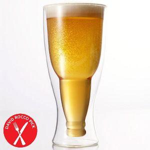 Double walled pilsner beer glasses