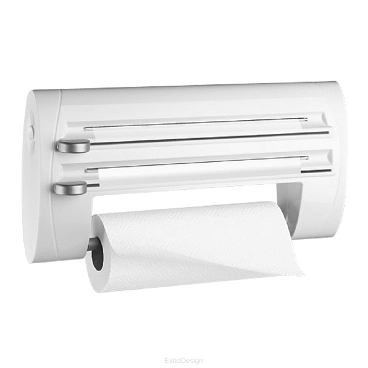 Podajnik na ręcznik papierowy i folię Superline biały by Emsa - Nowoczesne akcesoria domowe - ExitoDesign