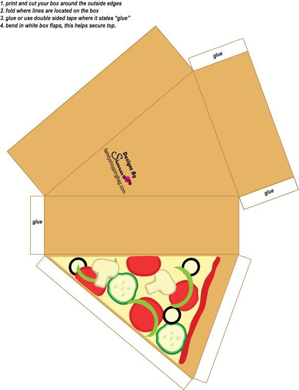 cajita rebanada de pizzA | Silhouette cameo inspiration ...