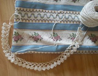 Světnička u Tiny: Háčkovaná krajka / Crochet lace