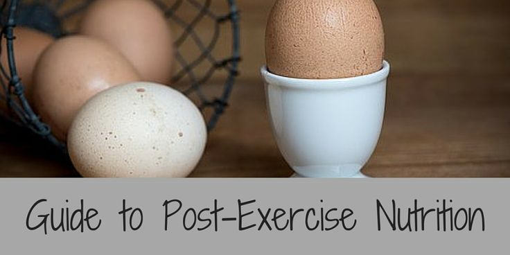 Guide to Post-Exercise Nutrition