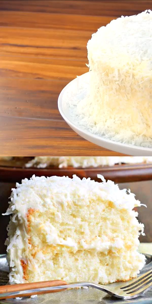 Coconut Cake Video In 2020 Coconut Cake Cake Recipes Sour Cream Cake