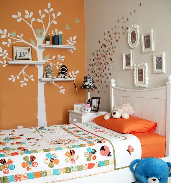 DIY Decorations for Girls Room - Shelf Tree | Girls Bedroom Decor Ideas