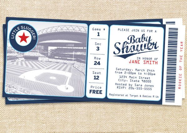 Little Slugger Baby Shower Invitations with nice invitations template