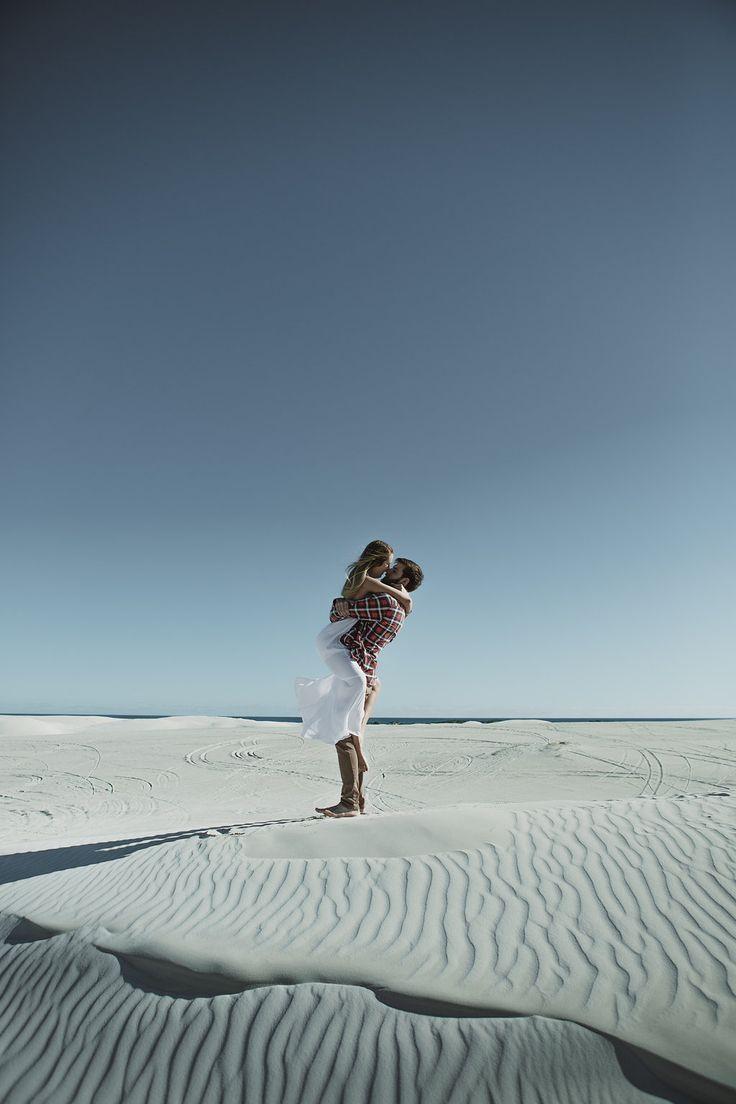 A sunny, sandy engagement Shoot.