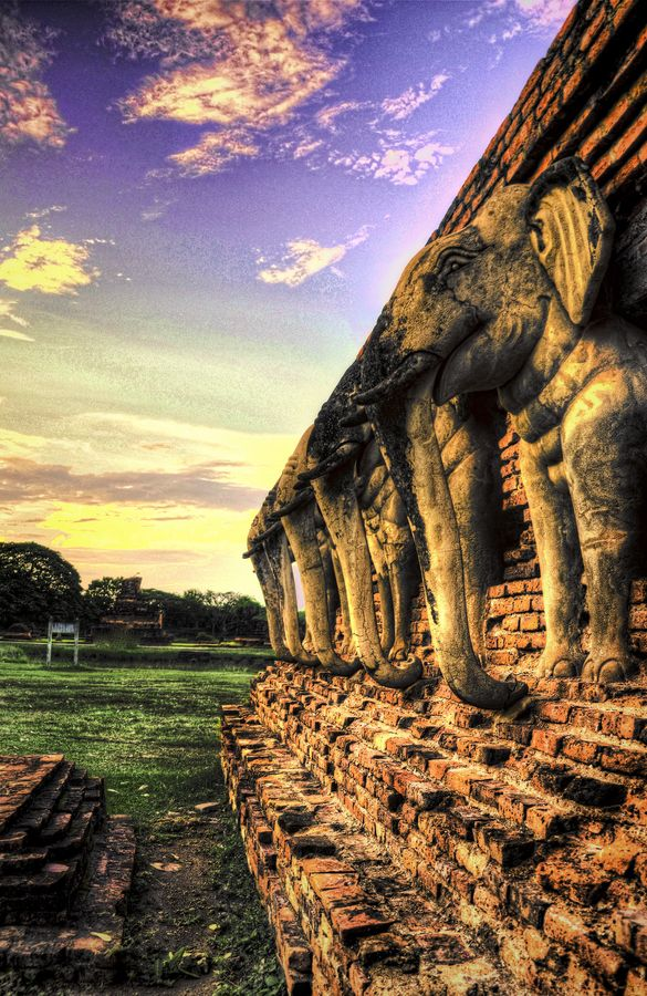 Sukhothai Ruins, Thailand. Biking around the temples was one of my favorites experiences in Thailand.: