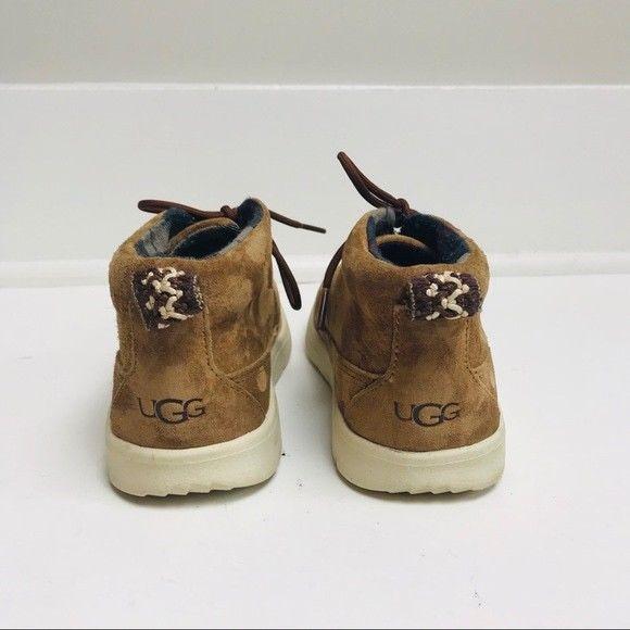 df5d9b03a74e6 UGG Boys Canoes Suede Chukka in Chestnut Sz.1 | Boys' Shoes ...