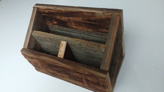 Made from old weathered barn wood, this charging station is sure to be a great addition to your home decor. The station has a 3/4 inch hole in