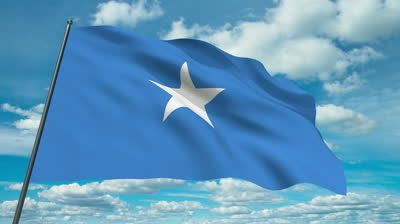 Somalia flag | Somalia flag waving against time-lapse clouds background