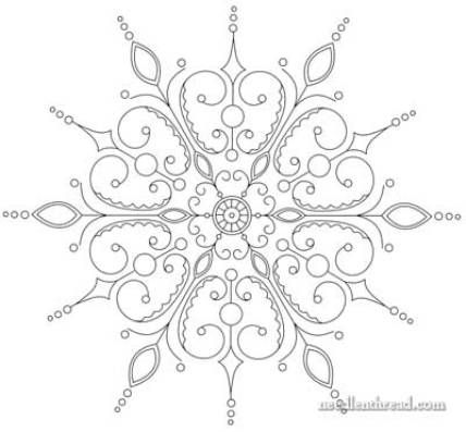 Beaded Snowflake Embroidery PATTERN