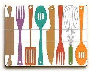 Kitchen Utensils Art 10 best kitchen utensil wall art images on pinterest | kitchen