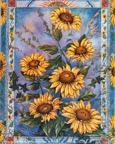 Your sweet home longs for a new life! Make your interiors pop out with excitement by hanging this beautiful floral country sunflower kitchen art print poster. Hang it in the hallway or in the kitchen for the eyes of admirers. This poster delivers a sharp vivid image with a high degree of color accuracy which ensures long lasting beauty of the poster.