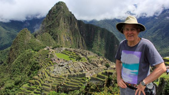 Joseph Rosendo at Machu Picchu. #Emmy #travel #PBS #adventure #Travelscope