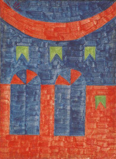 Obras de Alfredo Volpi - Fachadas e bandeirinhas