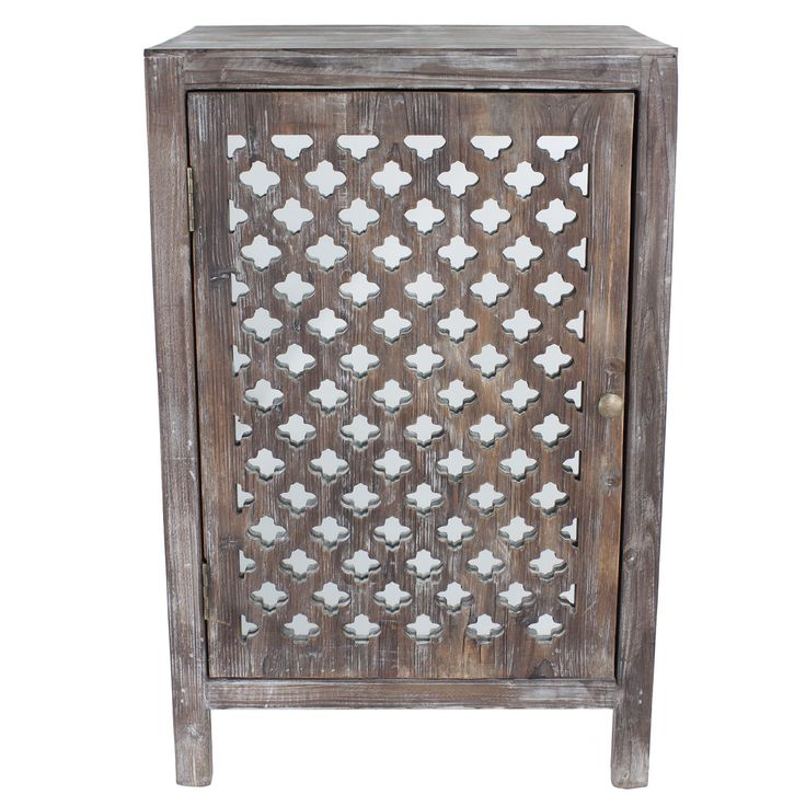 This rustic occasional table can slide into any shabby chic decor or traditional style.