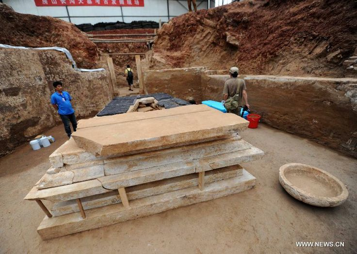 Archaeologists have started a salvage excavation of the tumulus since August 2012, after it was accidentally discovered at a local construct...