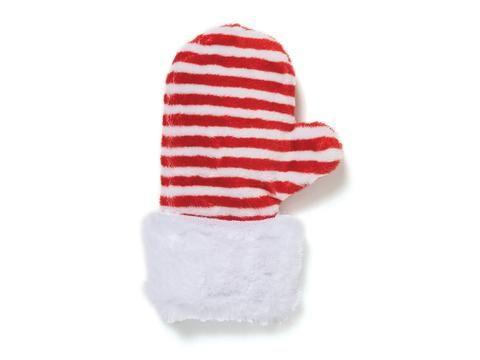 Toys - West Paw Design Mitten Dog Toy - Red Stripe