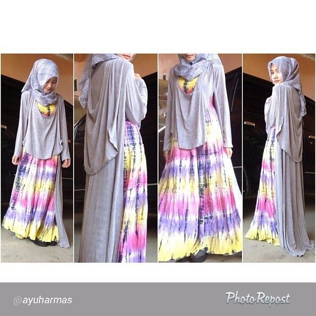 Beautifull Ayu Harmas wearing our ghea dress, look how she is mix match with outer, love it