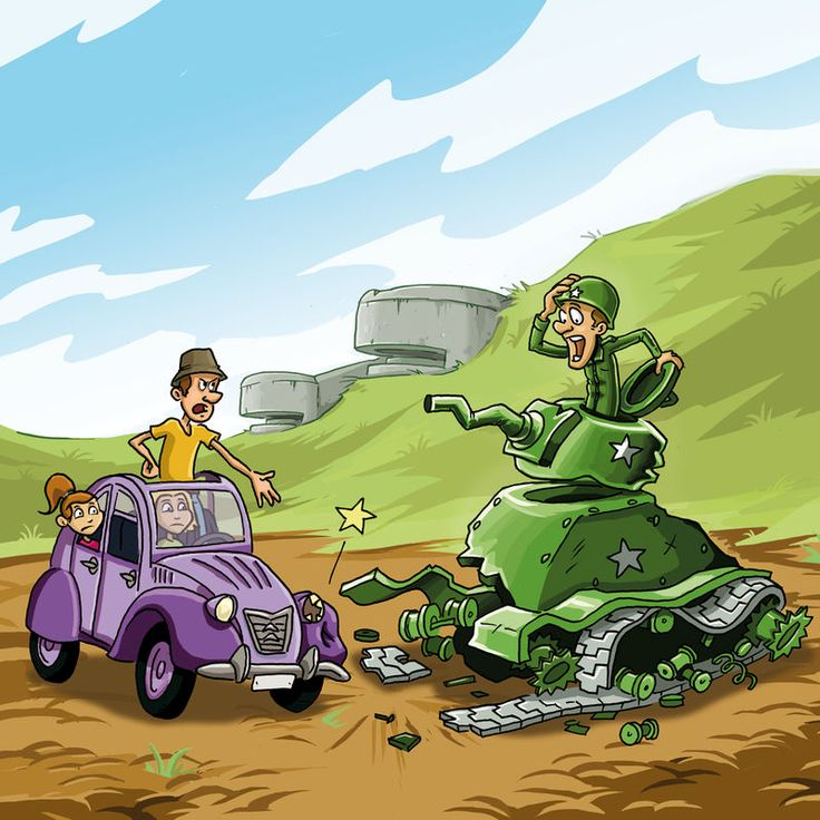 2cv mont canisy tank cass debarquement dessin humour pays - Dessin humoristique voiture ...
