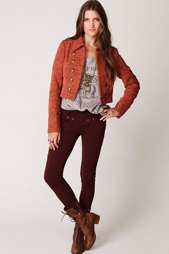 14 Spring Layering Pieces We Love #refinery29 http://www.refinery29.com/spring-transition-clothing#slide-10 Free People 5 Pocket Seamed Knit Leggings, $78, available at Free People.