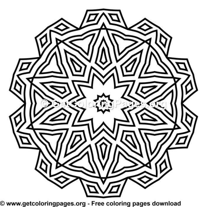 110 Simple Mandala Coloring Pages Mandala Coloring Pages Simple