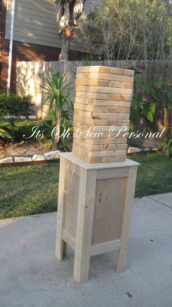 Giant Jenga inspired game INCLUDES STAND