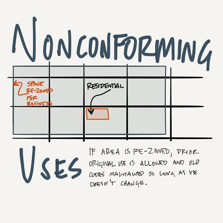Non-conforming uses are grandfathered in. #AREsketches