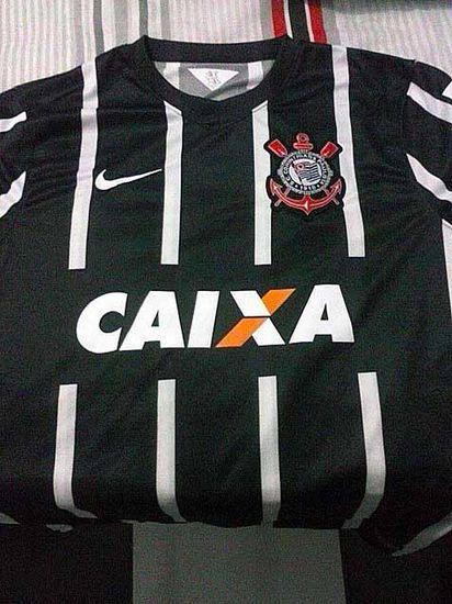 Possível camisa reserva do Corinthians - http://colecaodecamisas.com/camisa-reserva-corinthians-temporada-2014-15/ #colecaodecamisas #Nike